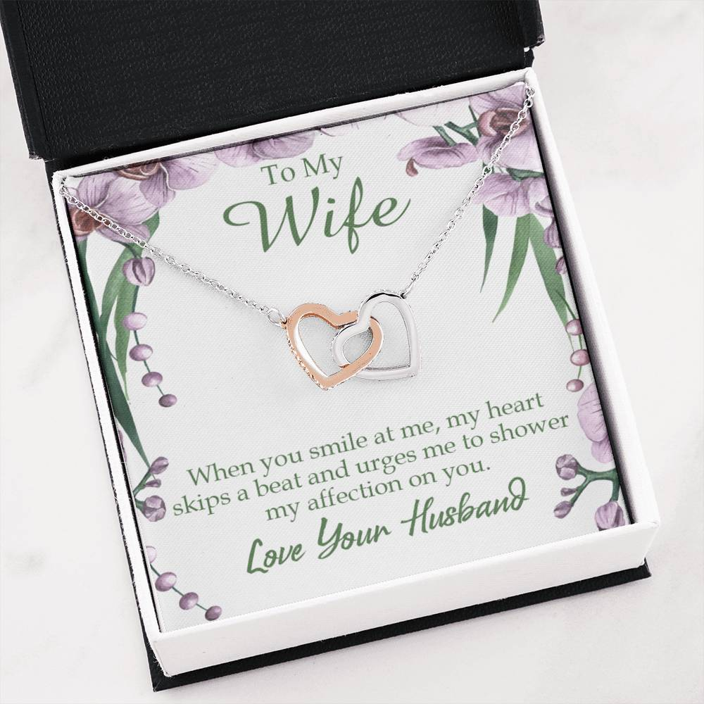 When You Smile at Me Gift to Wife Inseparable Necklace Pendant 18k Rose Gold 16""