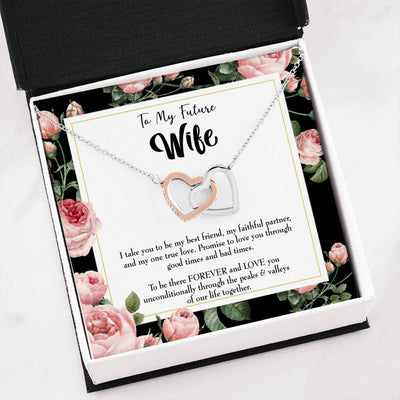 "Future Wife Fiance Gift I take You Inseparable Love Pendant 18k Rose Gold 16"" Engagement Wedding gift"