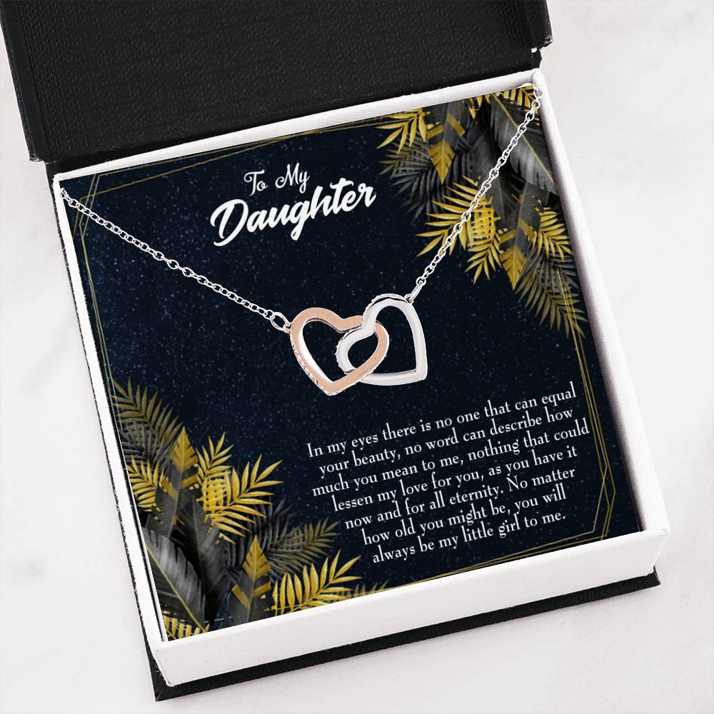 To My Daughter from Mom Dad Gift Inseparable Love Pendant 18k Rose Gold 16""