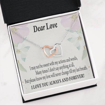Wife Girlfriend Necklace Forever in Thoughts Inseparable Necklace Pendant 18k Rose Gold Finish 16""