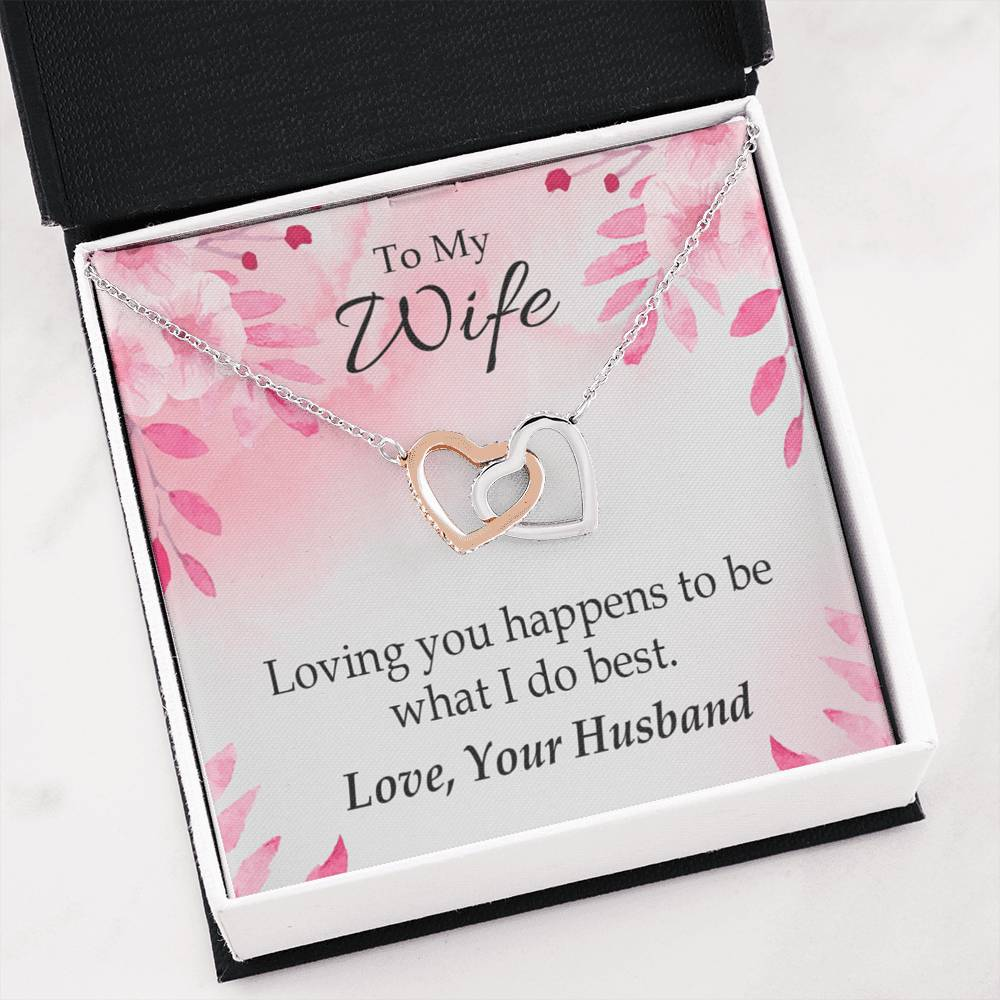 Loving You is What I do Best Gift to Wife Inseparable Necklace Pendant 18k Rose Gold 16""