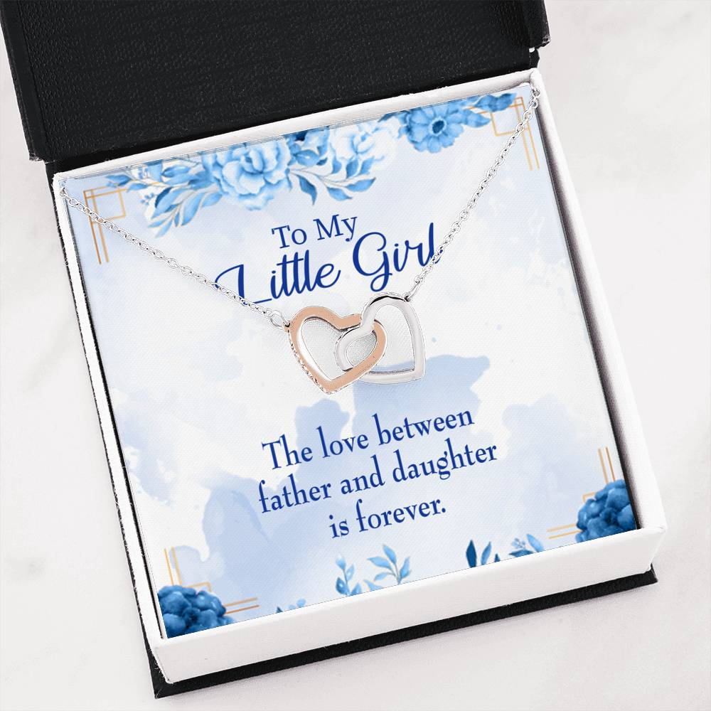 "Love Between Father and Daughter Daughter Keepsake Card Inseparable Necklace Pendant 18k Rose Gold 16"" To My Daughter"