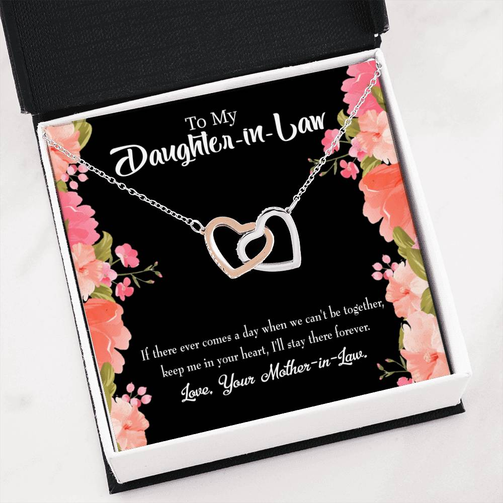 To my Daughter-in-Law Forever Keepsake Card Inseparable Necklace Pendant 18k Rose Gold 16""