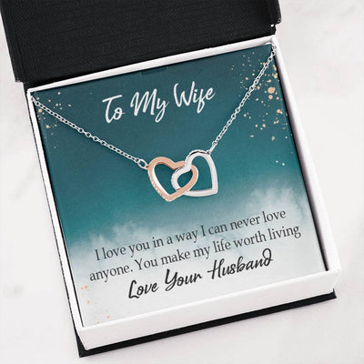 You Make My Life Worth Living Gift to Wife Inseparable Necklace Pendant 18k Rose Gold 16""
