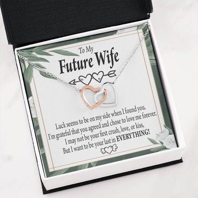 To My Future Wife Inseparable Necklace Last Everything Pendant18k Rose Gold Finish 16""