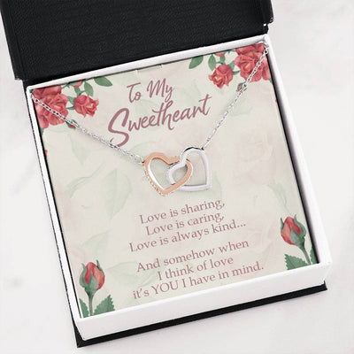 Gift to Wife Girlfriend Love is You Inseparable Necklace 18k Rose Gold 16""