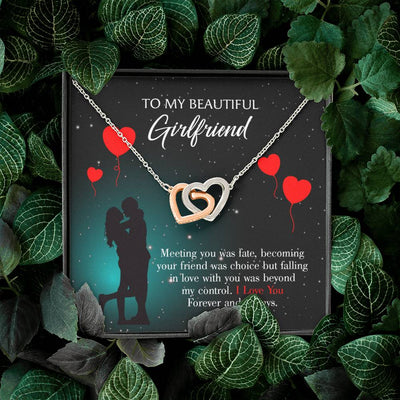 Girlfriend Necklace Gift Card Forever and Always Inseparable Love Pendant Surgical Steel Girlfriend Birthday Card Romantic