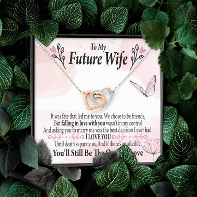 To my Future WifeBest Decision Inseparable Necklace Pendant 18k Rose Gold Finish 16""