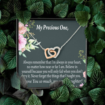 Granddaughter Inspirational Message from Grandma Inseparable Necklace Pendant 18k Rose Gold Finish 16""