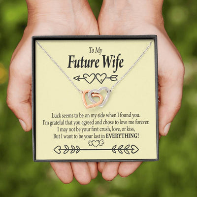 Engagement Gift for Future Wife Grateful Inseparable Necklace Pendant 18k Rose Gold Finish 16""