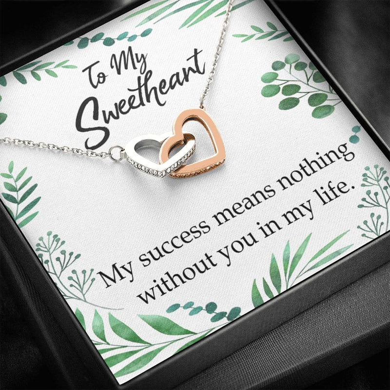 Gift to Wife, My Success Means Nothing Without You, Inseparable Necklace Pendant, 18k Rose Gold 16""
