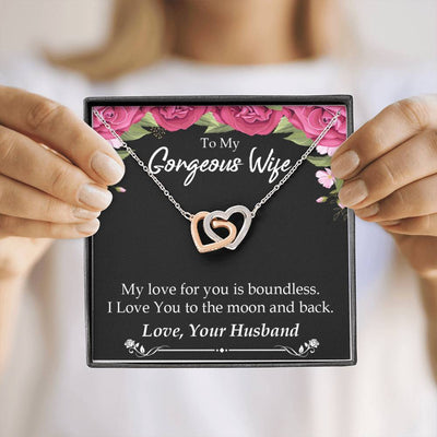 My Love For You is Boundless Gift to Wife Inseparable Necklace Pendant 18k Rose Gold 16""
