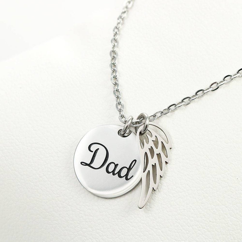 Cherished Memories Loss of a Dad Sympathy Gifts Loss of a Parent Remembrance Necklace Memorial Necklace - Express Your Love Gifts