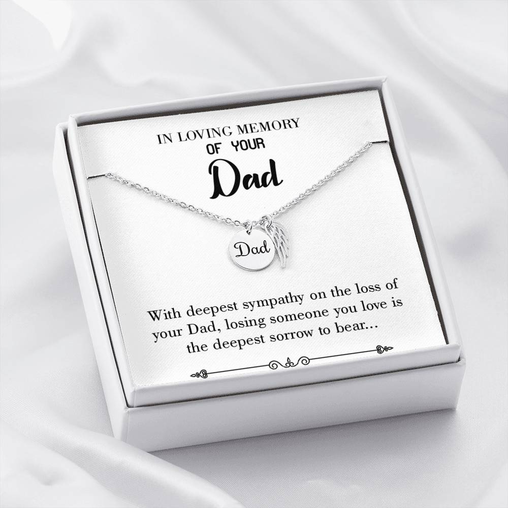 Losing Someone You Love Loss of a Dad, Sympathy Jewelry Gifts, Loss of a Parent, Remembrance Necklace, Memorial Necklace