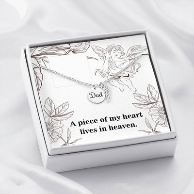 A Piece of my Heart Loss of a Dad Sympathy Jewelry Gifts Loss of a Parent Remembrance Necklace Memorial Necklace