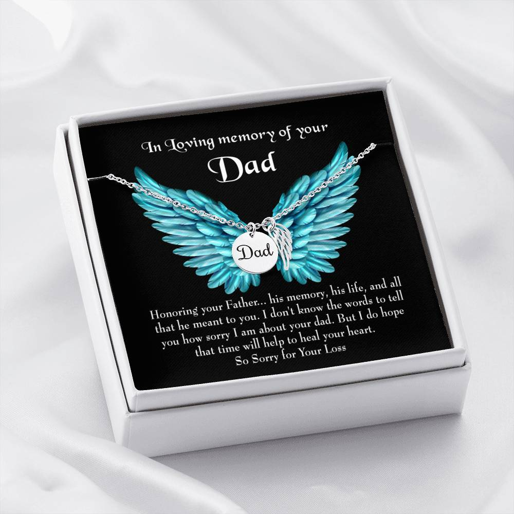 Honoring Your Dad Loss of a Dad Sympathy Gifts Loss of a Parent Remembrance Necklace Memorial Necklace - Express Your Love Gifts
