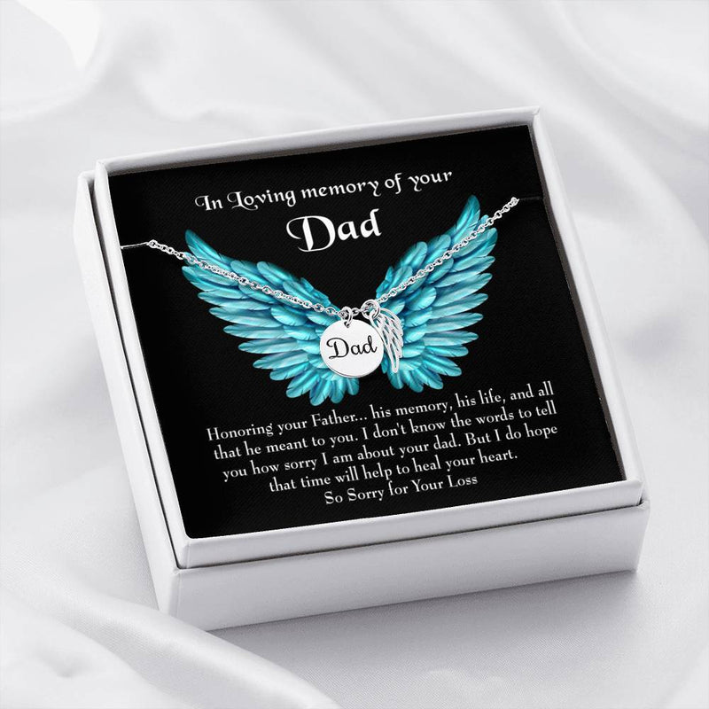 Honoring Your Dad Loss of a Dad, Sympathy Jewelry Gifts, Loss of a Parent, Remembrance Necklace, Memorial Necklace