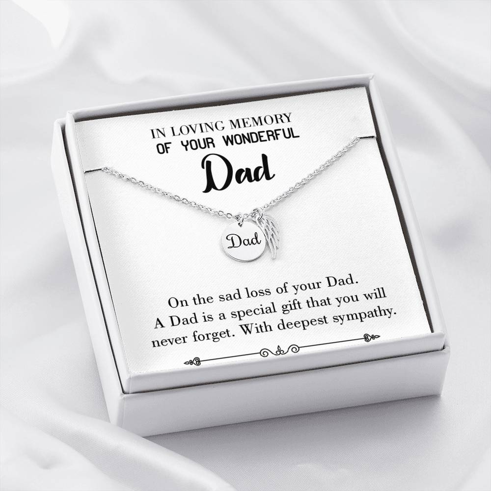 Special Gift Loss of a Dad, Sympathy Jewelry Gifts, Loss of a Parent, Remembrance Necklace, Memorial Necklace