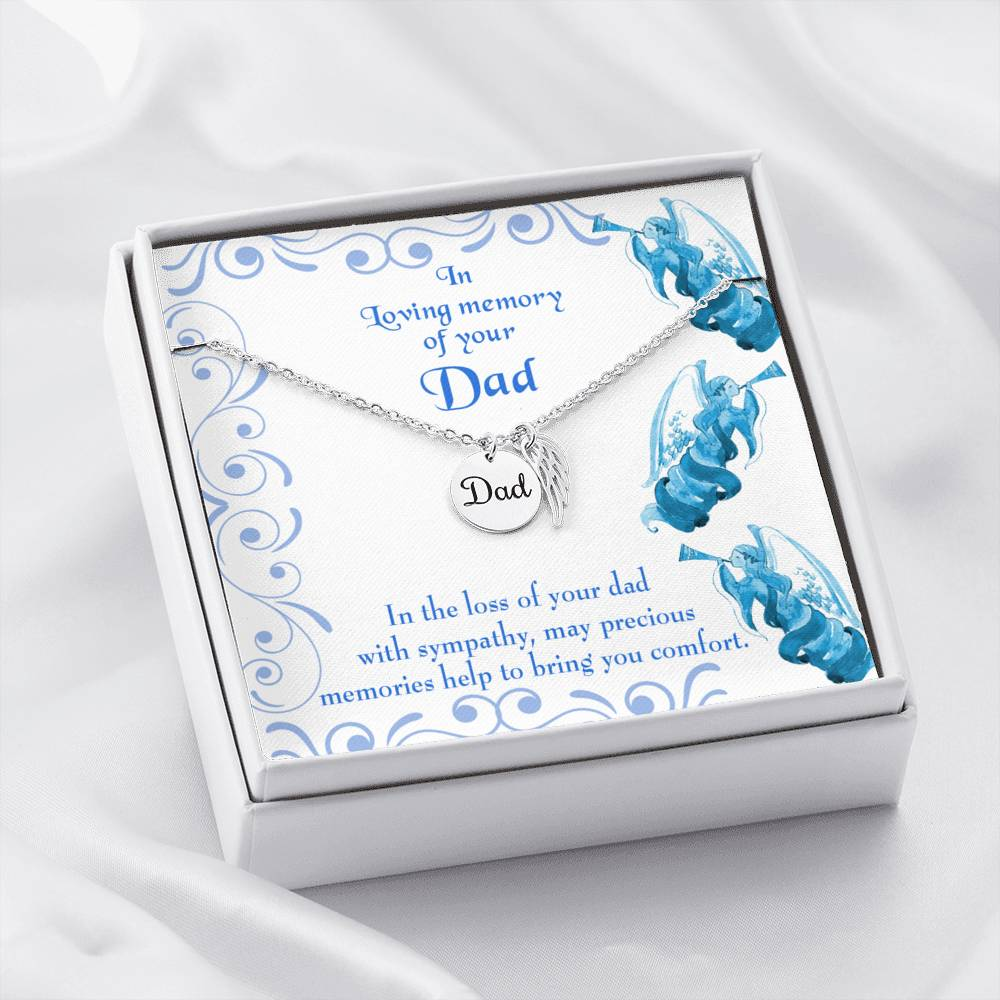Precious Memories Loss of a Dad Sympathy Gifts Loss of a Parent Remembrance Necklace Memorial Necklace - Express Your Love Gifts