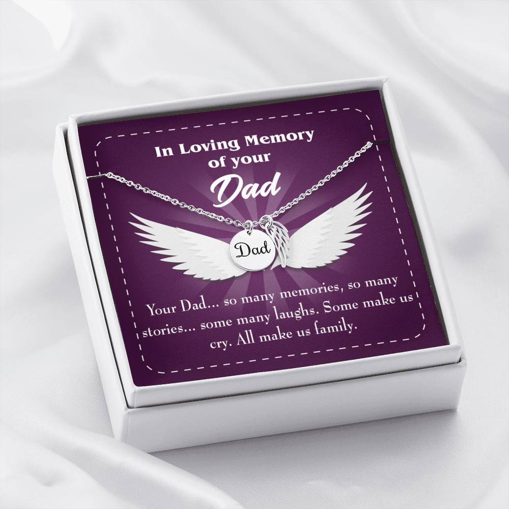 Your Dad Loss of a Dad Sympathy Gifts Loss of a Parent Remembrance Necklace Memorial Necklace - Express Your Love Gifts