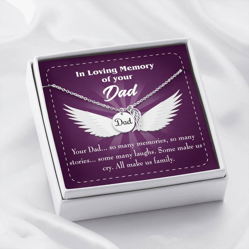 Your Dad Loss of a Dad, Sympathy Jewelry Gifts, Loss of a Parent, Remembrance Necklace, Memorial Necklace