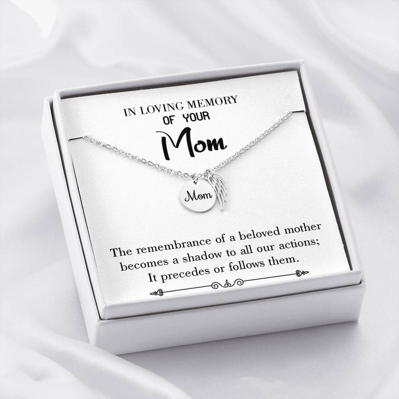 Mom Remembrance Necklace, Beloved Mother, Mother Memorial Necklace