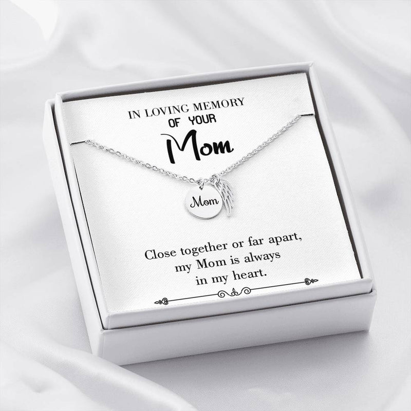 Mom Remembrance Necklace Close Together Mother Memorial Necklace - Express Your Love Gifts
