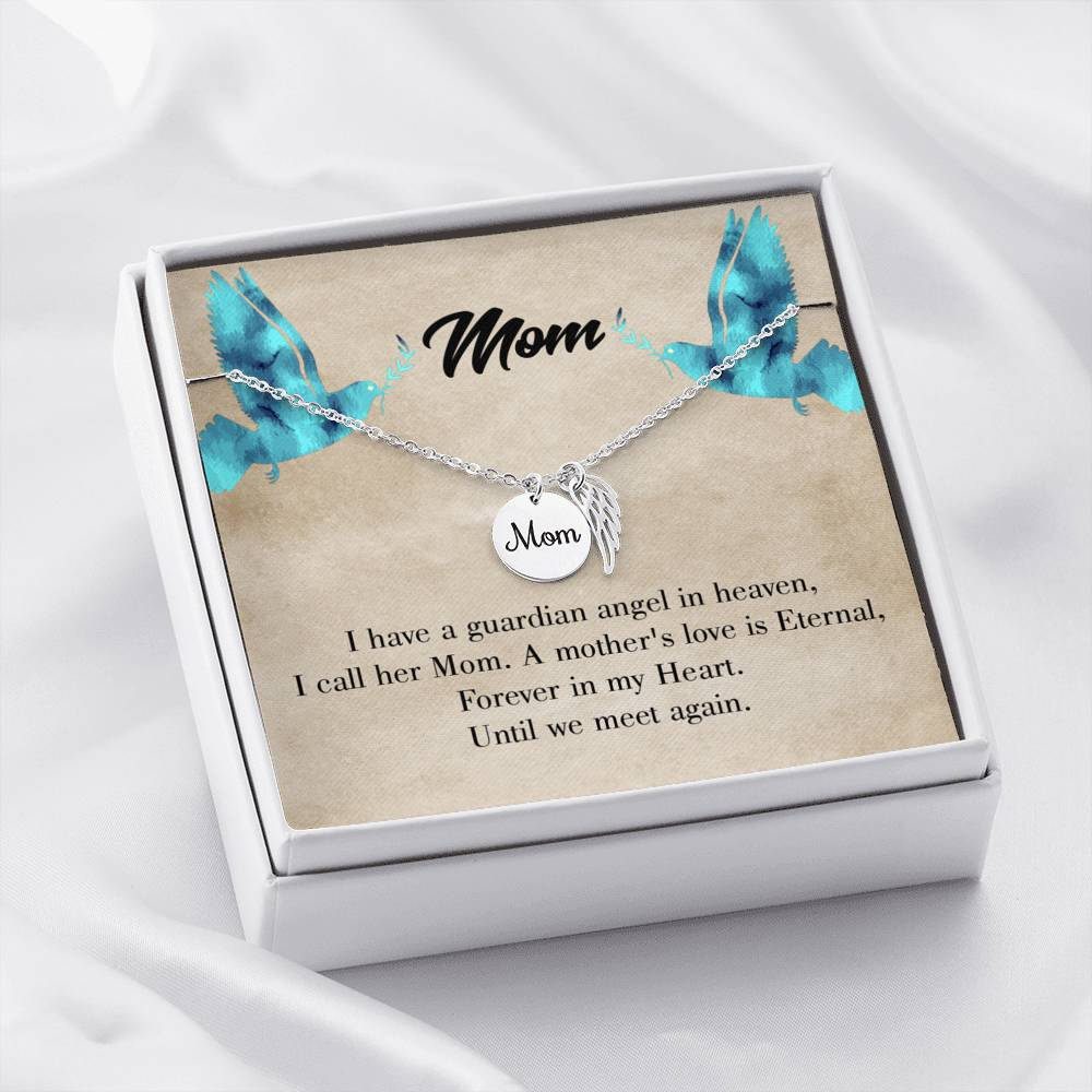 Mom Remembrance Necklace Mother's Love is Eternal Mother Memorial Necklace - Express Your Love Gifts