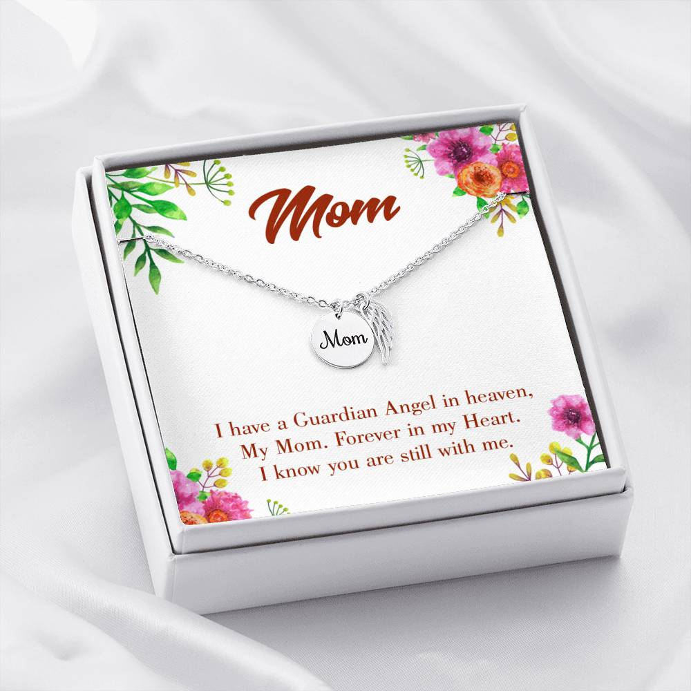 Mom Remembrance Necklace, Forever in my Heart, Mother Memorial Necklace