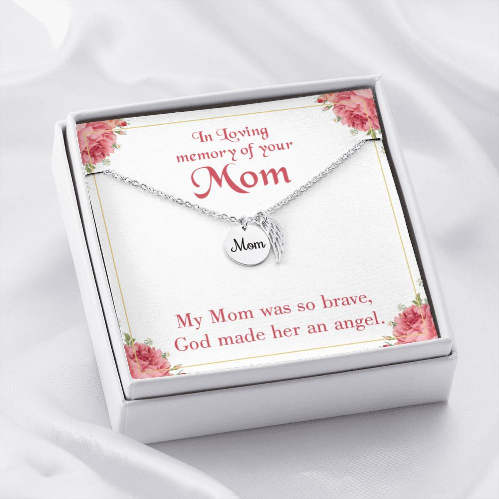 Mom Remembrance Necklace, Brave Mom, Mother Memorial Necklace
