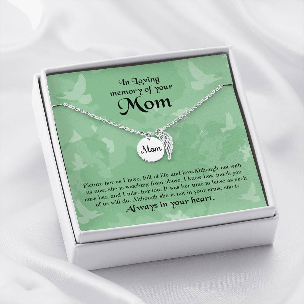 Mom Remembrance Necklace Full of Life Mother Memorial Necklace - Express Your Love Gifts