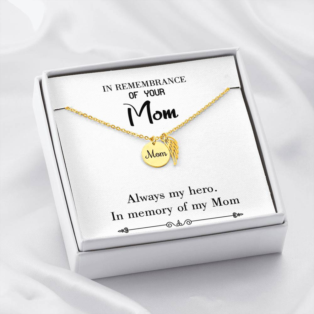 Mom Remembrance Necklace Always my Hero White Mother Memorial Necklace - Express Your Love Gifts