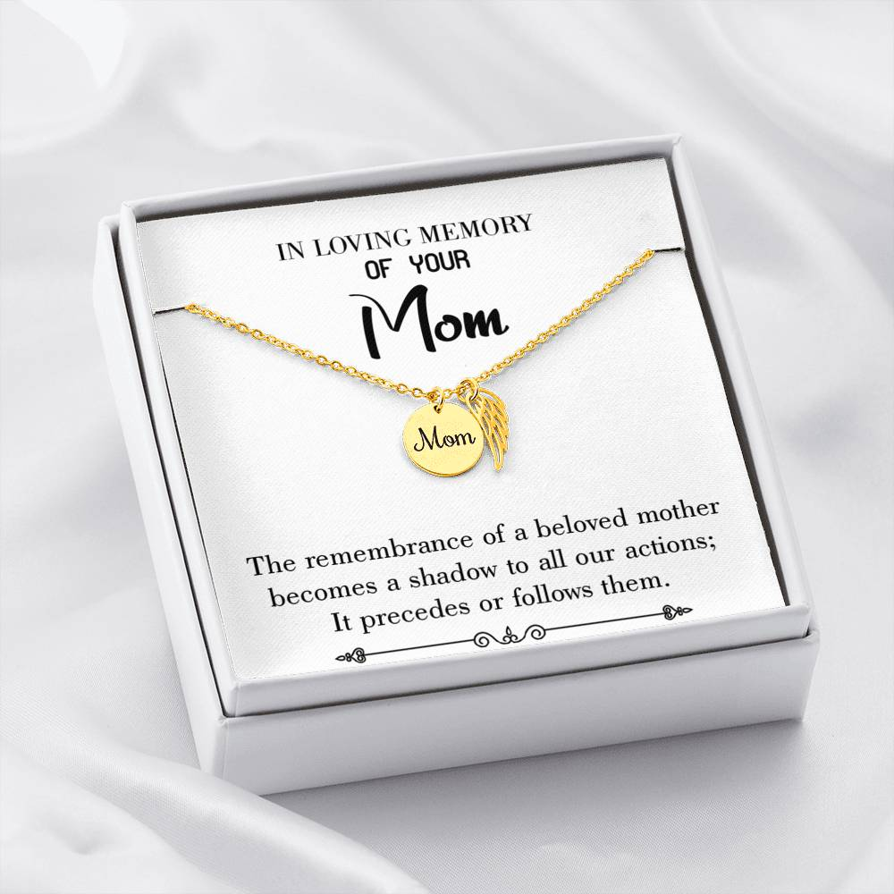 Mom Remembrance Necklace Beloved Mother Mother Memorial Necklace - Express Your Love Gifts
