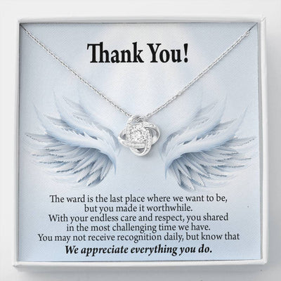 Nurse Gift Thank You for Your Endless Care Love Knot Necklace Nurse Appreciation Gift Necklace