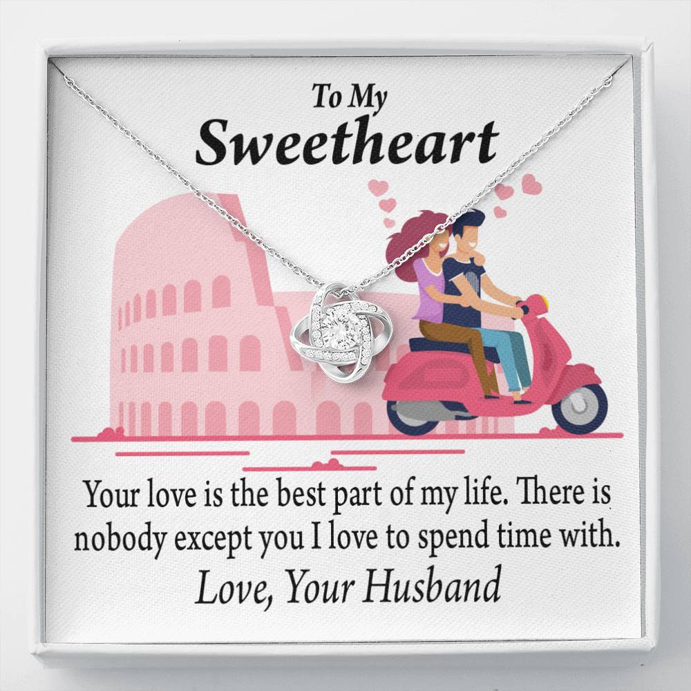 To My Wife Girlfriend Best Part Of My Life Love Knot Necklace Message Greeting Card - Express Your Love Gifts