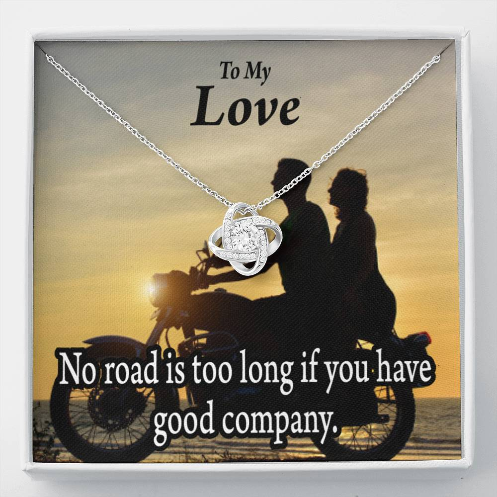To My Wife Girlfriend Enjoy The Ride Love Knot Necklace Message Greeting Card - Express Your Love Gifts