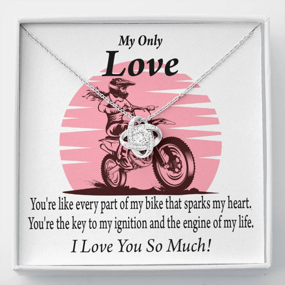 To My Wife You Are My Spark Love Knot Necklace Message Greeting Card - Express Your Love Gifts
