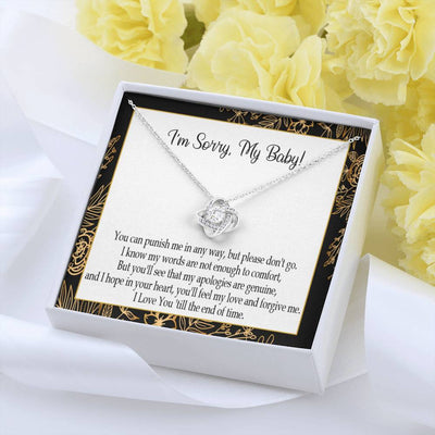 Apology Gift for Her Sorry I Love You Love Knot Necklace Forgive Me Keepsake Gift