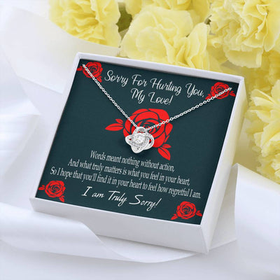 Apology Gift for Her Sorry for Hurting You Love Knot Necklace Forgive Me Keepsake Gift