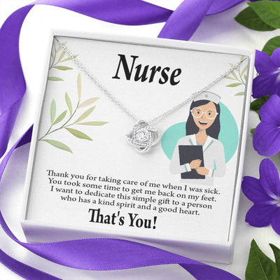 Nurse Gift Simple Thank You Nurse Love Knot Necklace Nurse Appreciation Gift Necklace