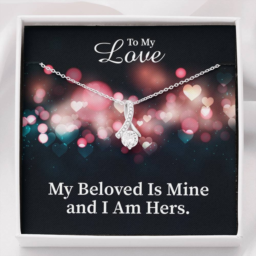 To My Love Inspirational Message Gift Eternity Ribbon Stone Pendant Inspirational Gift Sympathy Gift Christian Gift Bible Verse