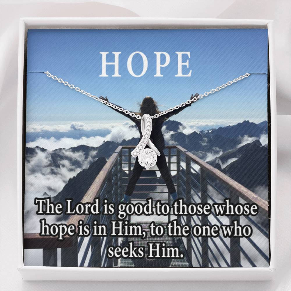 Hope Inspirational Message Gift Eternity Ribbon Stone Pendant Inspirational Gift Sympathy Gift Christian Gift Bible Verse