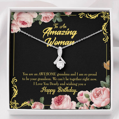 Mom Jewelry Gift Happy Birthday Mom From Daughter Eternity Ribbon Stone Pendant 14k White Gold Stainless Steel 18-22 Mom Birthday Messages