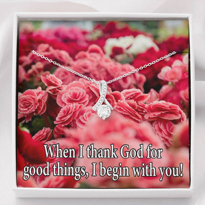 I Thank God Inspirational Message Gift Eternity Ribbon Stone Pendant Inspirational Gift Sympathy Gift Christian Gift Bible Verse