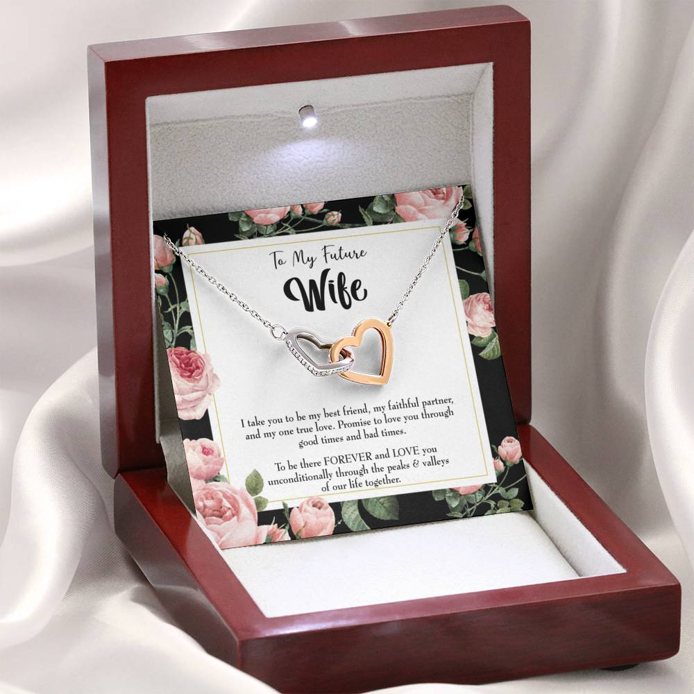 "Future Wife Fiance Gift I take You Inseparable Love Pendant 18k Rose Gold Finish 16"" Engagement Wedding gift - Express Your Love Gifts"
