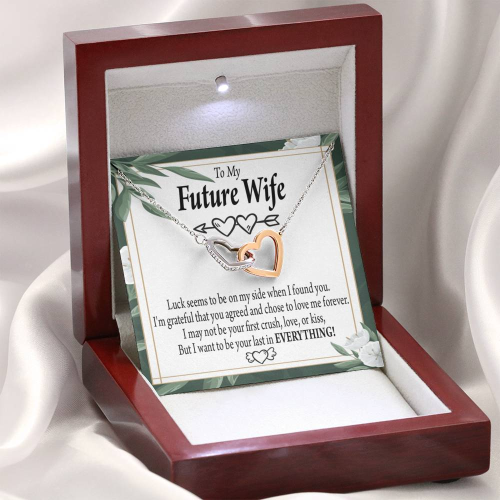 "To My Future Wife Inseparable Necklace Last Everything Pendant18k Rose Gold Finish Finish 16"" - Express Your Love Gifts"