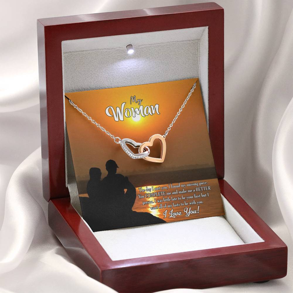 "Future Wife Fiance Gift My Last Inseparable Love Pendant 18k Rose Gold Finish 16"" Engagement Wedding gift - Express Your Love Gifts"
