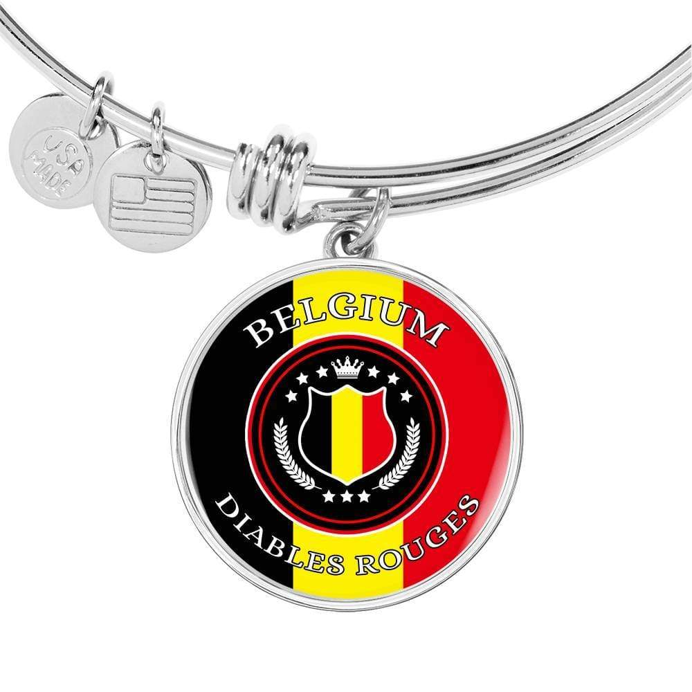 Belgium Diables Rouges Futbol/Soccer Circular Bracelet Bangle Express Your Love Gifts