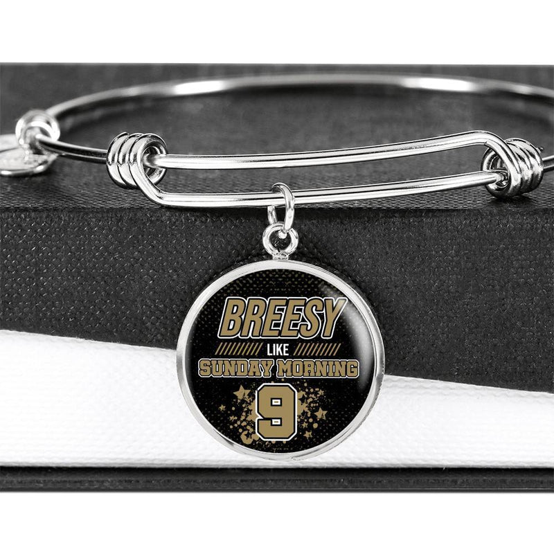 Breesy Like Sunday Morning New Orleans Football Circle Luxury Chain Bracelet Bangle Express Your Love Gifts