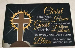 Christ is the Head of our Home DoorMat Express Your Love Gifts
